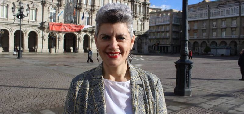 Mercedes Queixas, número 3 da candidatura do Bloque Nacionalista Galego da Coruña