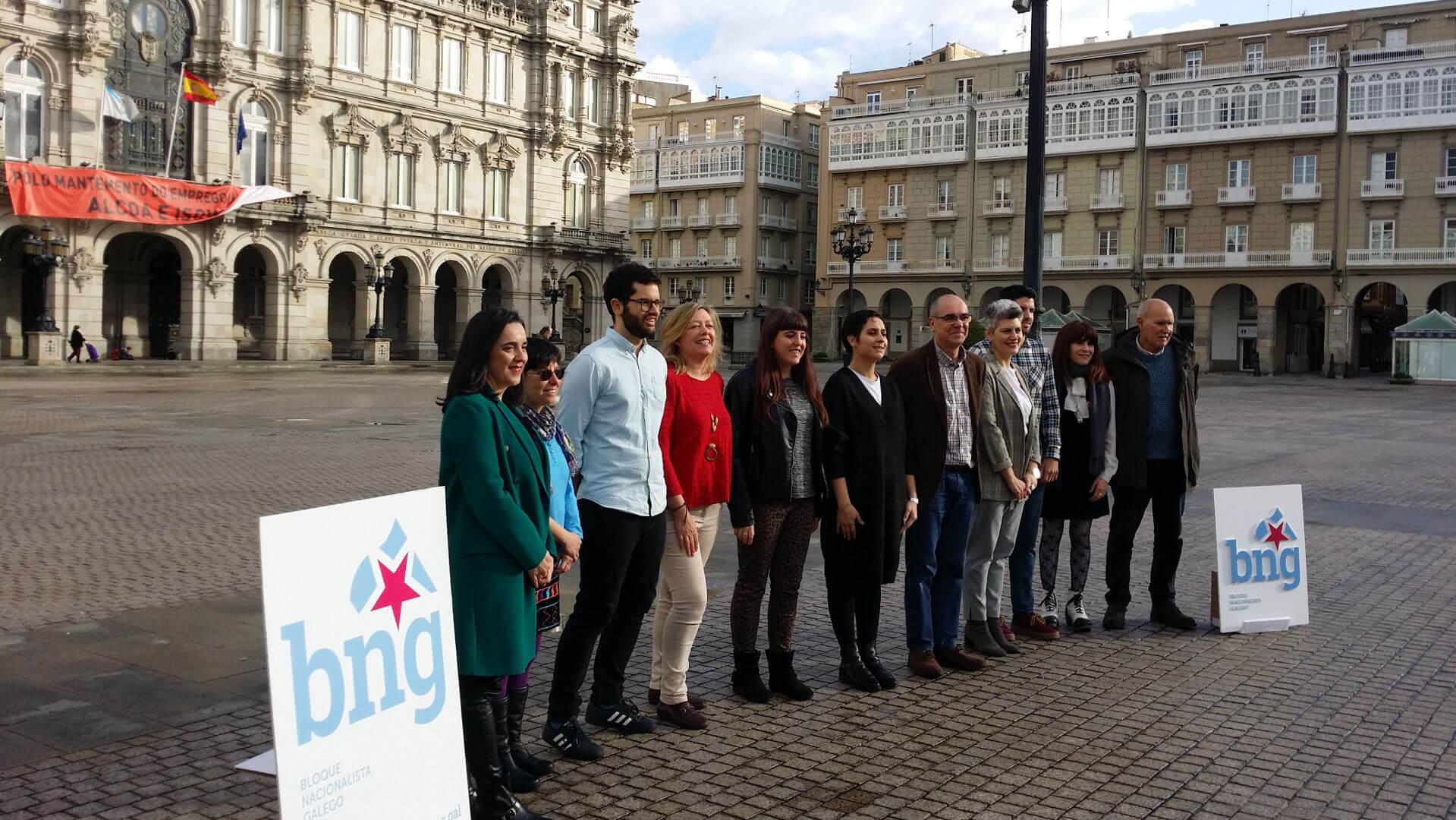 Imaxe da candidatura do Bloque Nacionalista Galego da Coruña