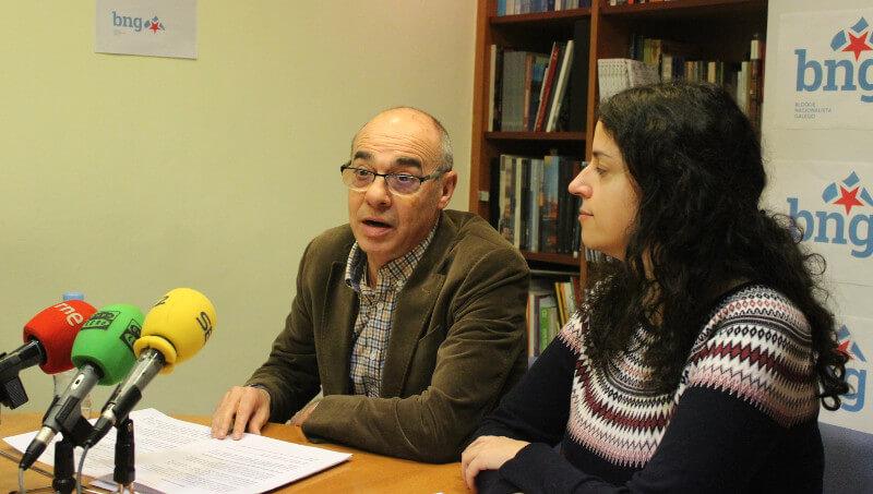 Francisco Jorquera e Noa Presas, en rolda de prensa