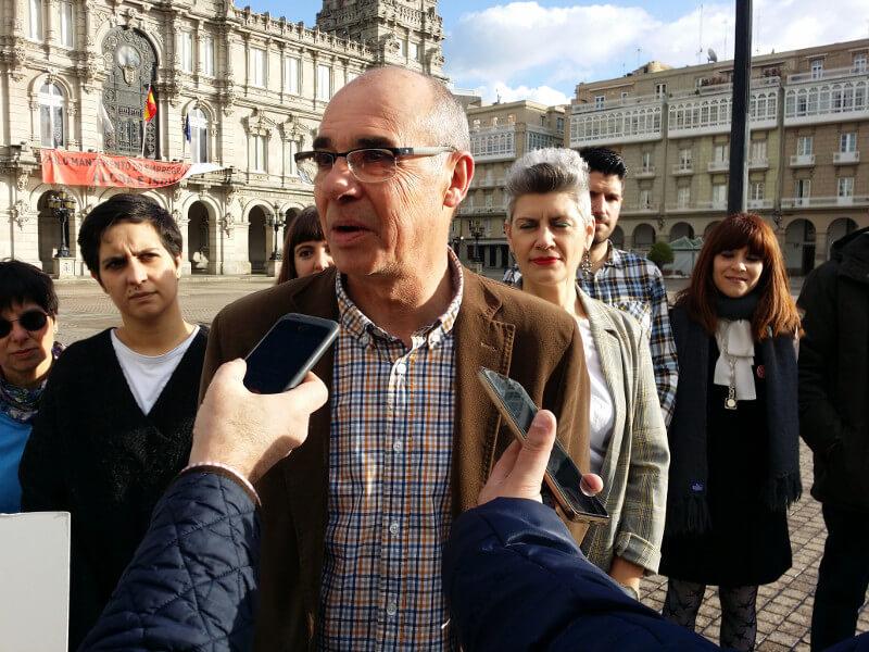 Rolda de Prensa da candidatura do David Soto, número 5 da candidatura do Bloque Nacionalista Galego da Coruña