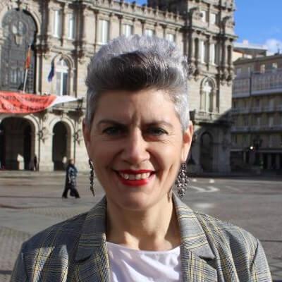 Mercedes Queixas, número 3 do Bloque Nacionalista Galego da Coruña